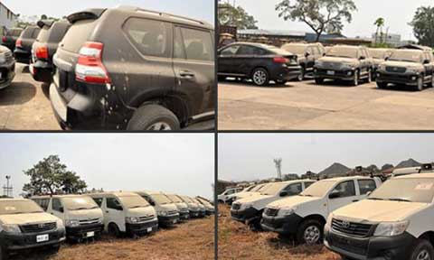 Busted! EFCC Discovered 47 SUVs Bought With Dead PHCN Workers Money