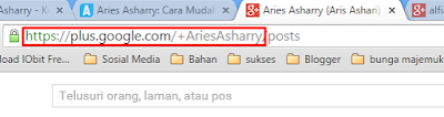 kode id Google+ username