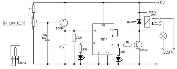 Membuat Saklar Lampu Elektronik Menggunakan Remote TV