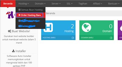 membuat hosting di idhostinger