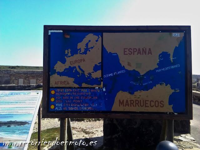 cartel informativo Isla de Las Palomas, Tarifa