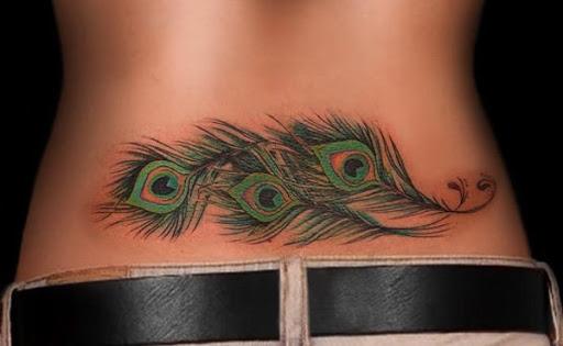 Pena Leve De Volta Tatuagens