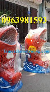 Thùng rác hình cá chép, thùng rác cá heo, thùng đựng rác hình con gấu giá rẻ