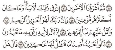 Tafsir Surat As-Syu'ara Ayat 66, 67, 68, 69, 70