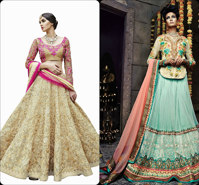 Long Sleeves Choli, Lehenga Choli, Lehengas from India