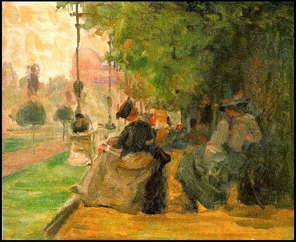 Jardim em Luxemburgo - Eliseu Visconti -  O mais importante artista plástico brasileiro da primeira década do século XX