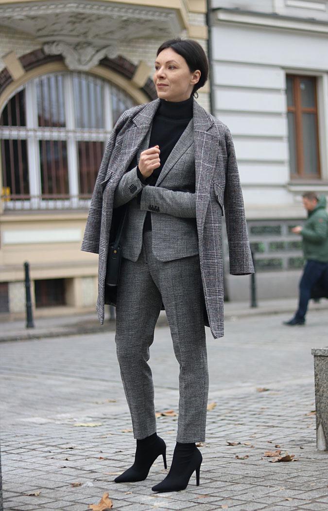 stylizacje do pracy w biurze - garnitur damski