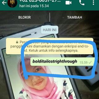 font unik whatsapp