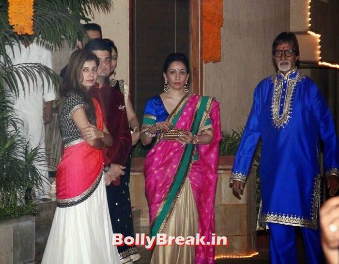Manyata Dutt, Amitabh Bachchan, Photos from Amitabh Bachchan's Diwali Bash 2014