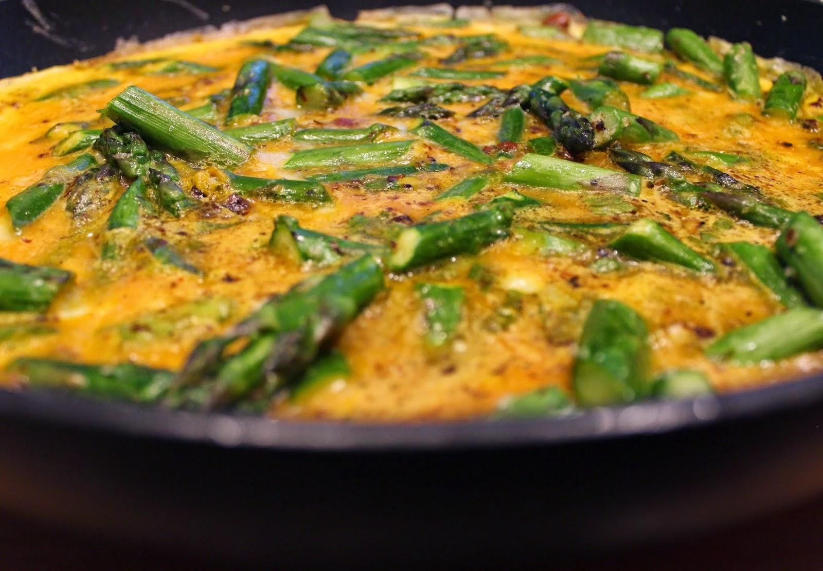 Une omelette aux asperges !