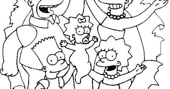 Immagini Da Colorare Simpson: Disegni Da Colorare Dei Simpson