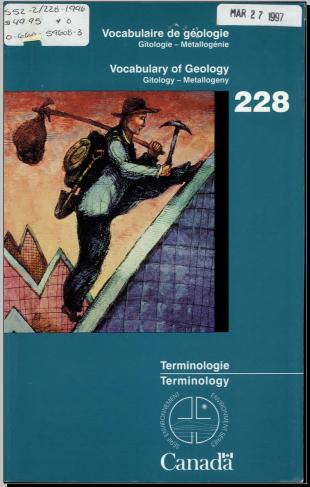 Livre : Vocabulaire de géologie, gitologie-métallogénie - Mariette Granchamp-Tupula