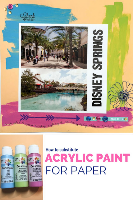 how to substitute acrylic paint for paper