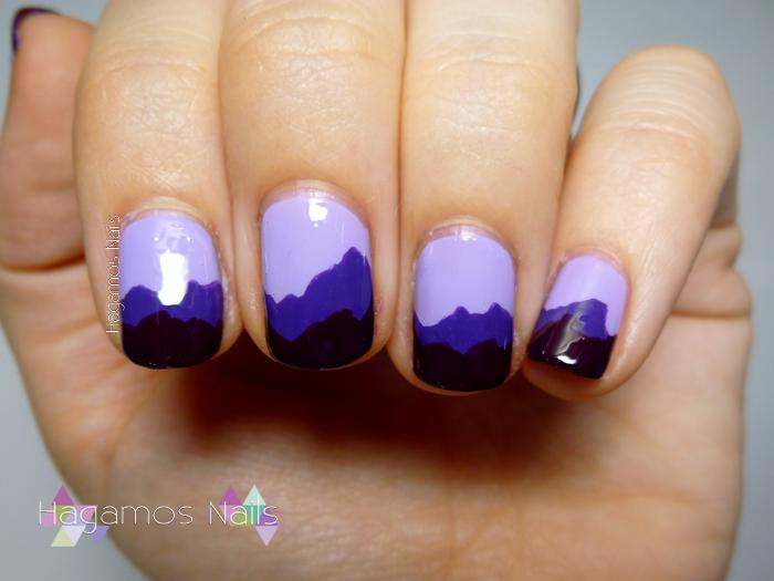 Nail Art Montañas Moradas. Reto #DIASDEVERANO Hagamos Nails