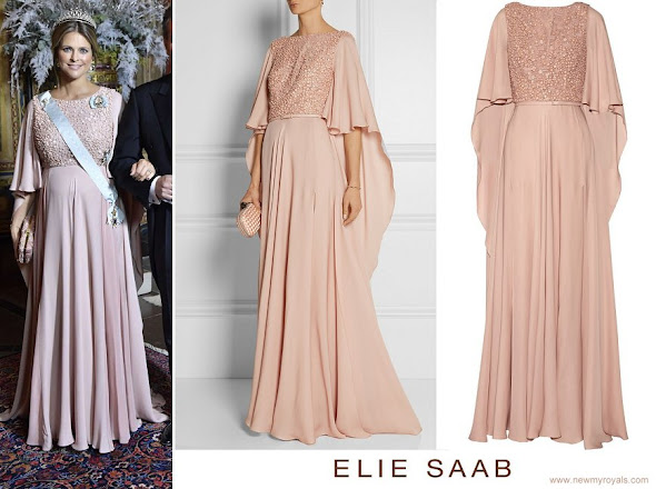 Princess Madeleine wore ELIE SAAB Embellished belted silk gown