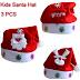 3 Pieces Santa Cap For Christmas