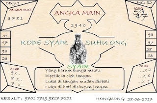 syair hongkong, DATA TOGEL HK RABU