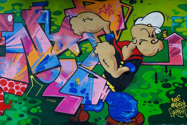 Image: Graffiti Popeye Wall Art, on Pixabay