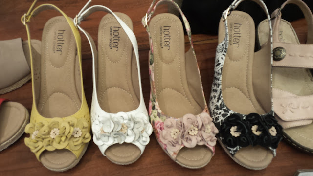 Summer wedges in various colours from Hotter shoes