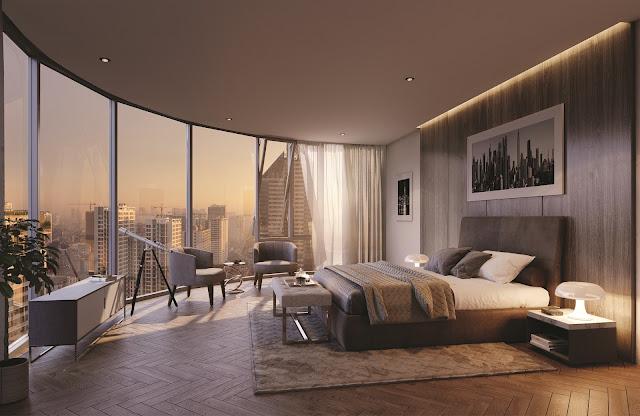 Không gian phòng ngủ view thoáng sẽ khiến căn hộ tràn ngập ánh sáng
