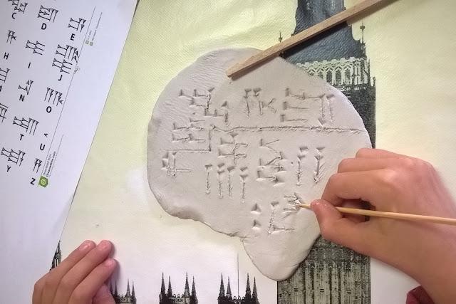 laboratorio scrittura cuneiforme