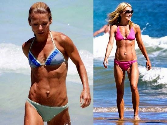 kelly ripa: tubuh selebriti terburuk di pantai