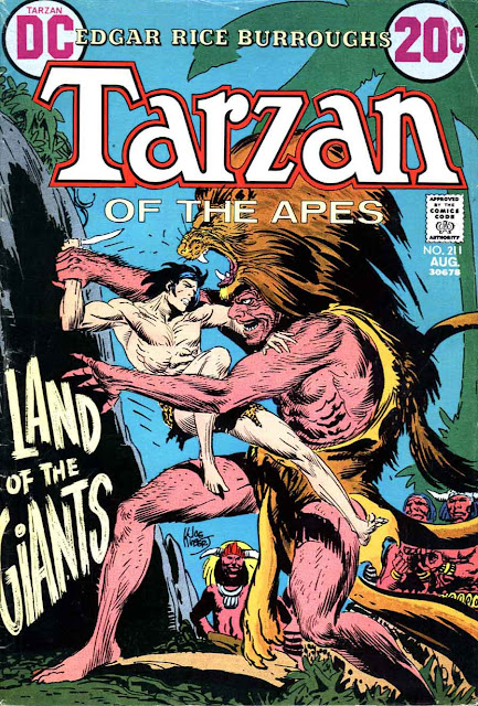 Tarzan v1 #211 dc comic book cover art by Joe Kubert