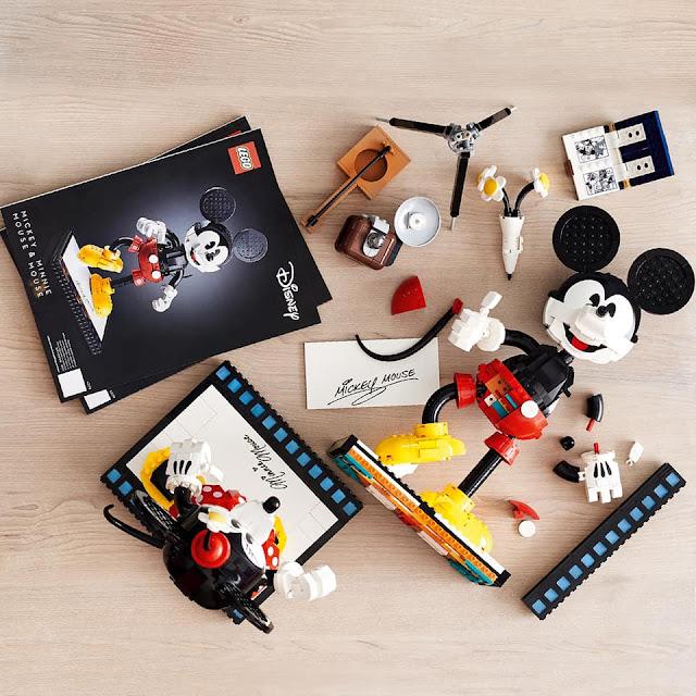 LEGO Disney 43179 Mickey & Minnie Retro 米奇米妮模型 classic Set, animation