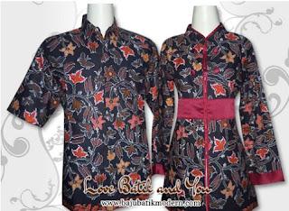 Model Baju Batik Resmi Kombinasi Modis