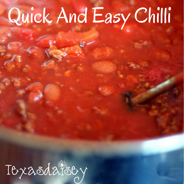 Recipe For Quick and Easy Chilli