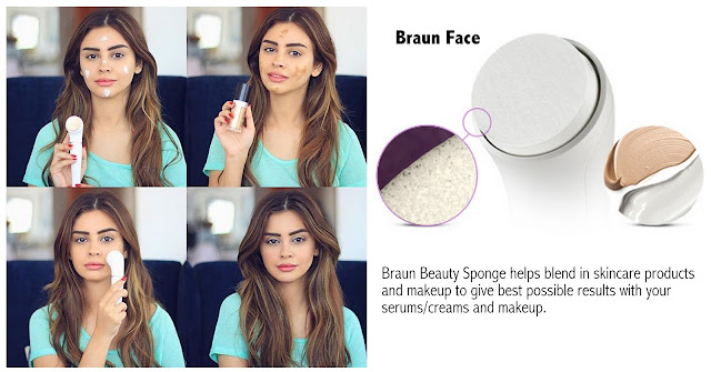 Braun Face spa, makeup