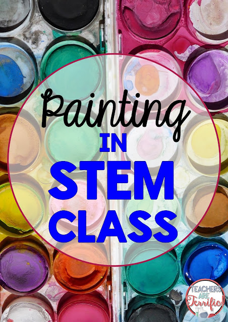 Painting in STEM class has the same dilemmas as other structures and you just have be prepared for the splatters and re-dos and kids getting paint on their fingers!