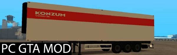 Free Download  Konzum-Trailer  Mod for GTA San Andreas.