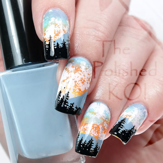 Sunrise nail art