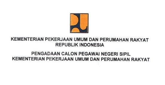 Lowongan Kerja CPNS Kementerian PUPR
