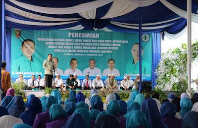 Tingkatkan Mutu Layanan, Gubernur Ridho Terus Menambah Fasilitas RSUD Abdul Moeloek