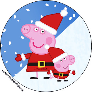 Peppa Pig in Christmas: Free Printable Candy Bar Labels. | Is it ...
