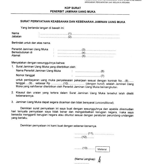 contoh surat kuasa jaminan fidusia syd thomposon 2012