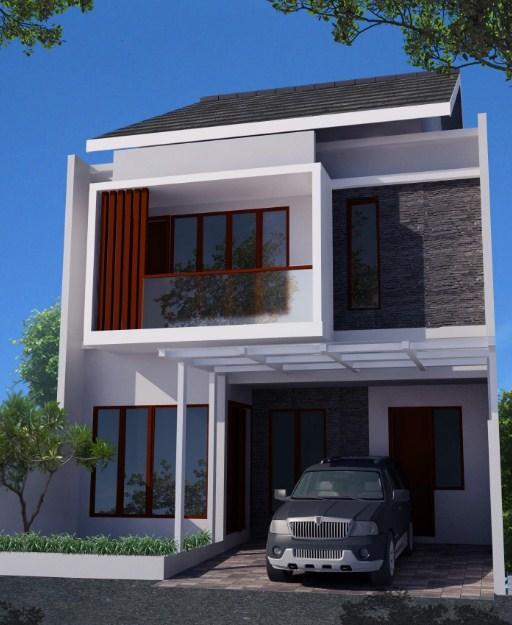 model rumah minimalis 2 lantai type 21