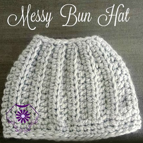 Messy Bun Hat – Free Pattern