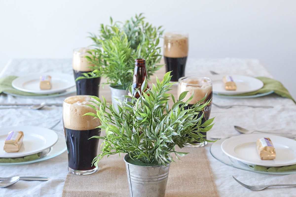Simple and Rustic St. Patrick's Day Tablescape
