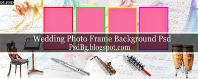 Photo Frame Background Psd Files 12x30