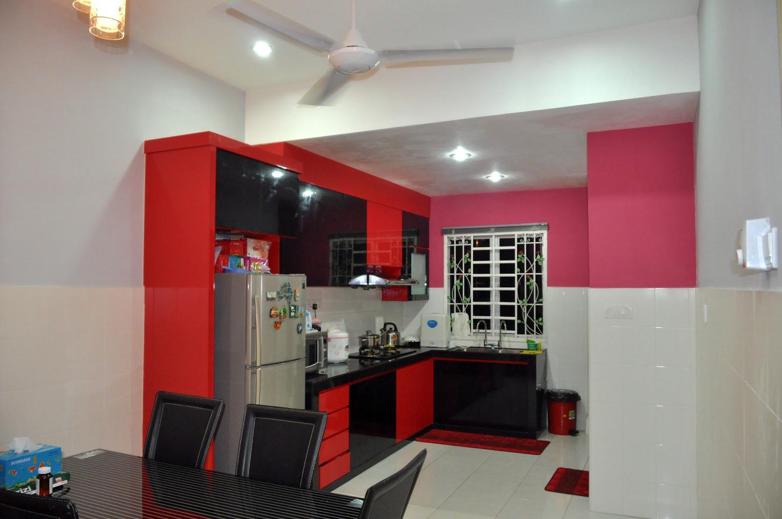 40 Model Dapur Warna Merah Yang Nampak Modern dan Cantik ...