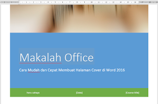 memasukkan judul cover di document title
