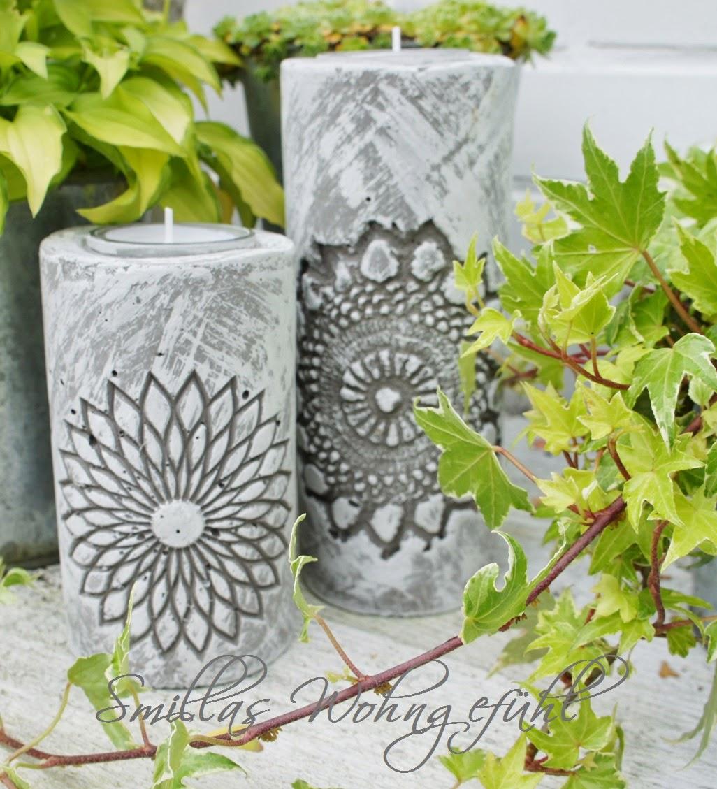 smillas wohngef hl diy concrete candle holder. Black Bedroom Furniture Sets. Home Design Ideas