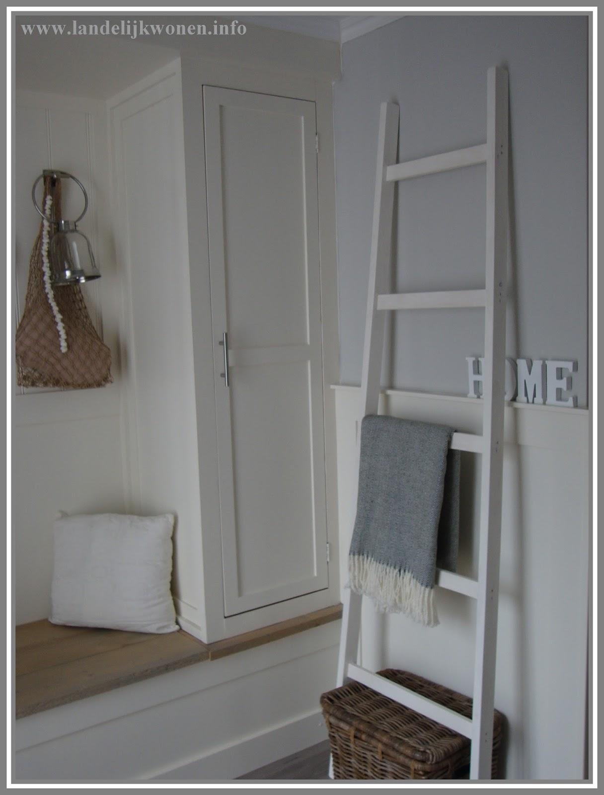 Geliefde Landelijk Wonen: Interieur idee: Decoratieve Ladder zelf maken #XL27