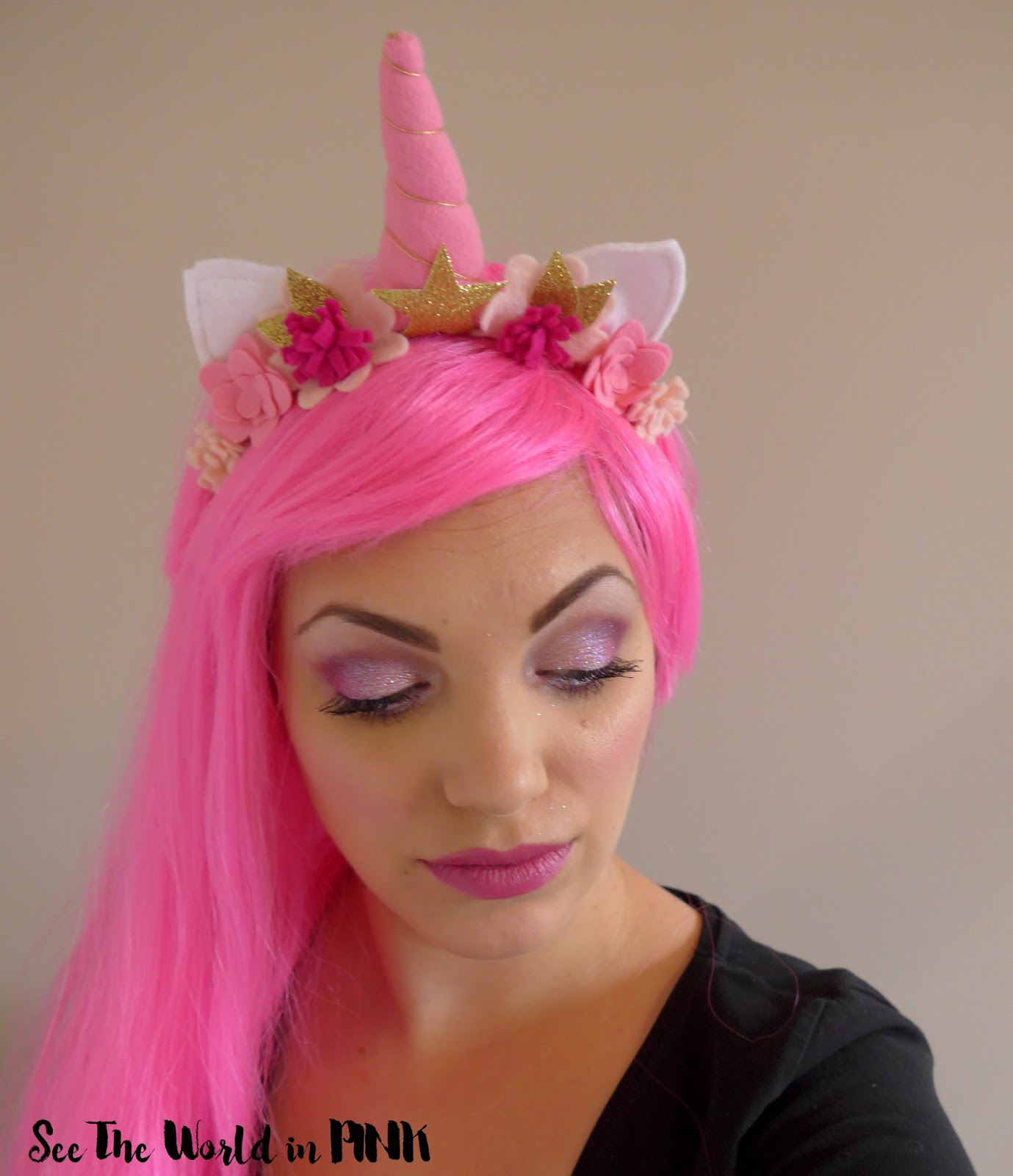 unicorn makeup halloween look