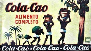 Imagen con antiguo cartel publicitario de Cola-Cao, alimento completo