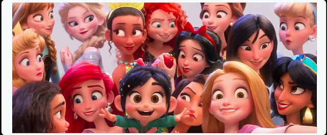 Ralph Breaks the Internet Princesses with smiling faces