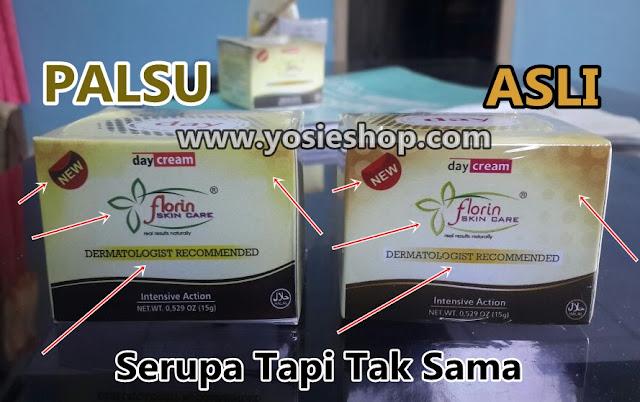 Perbedaan Kemasan Florin Skin Care Asli dan Palsu